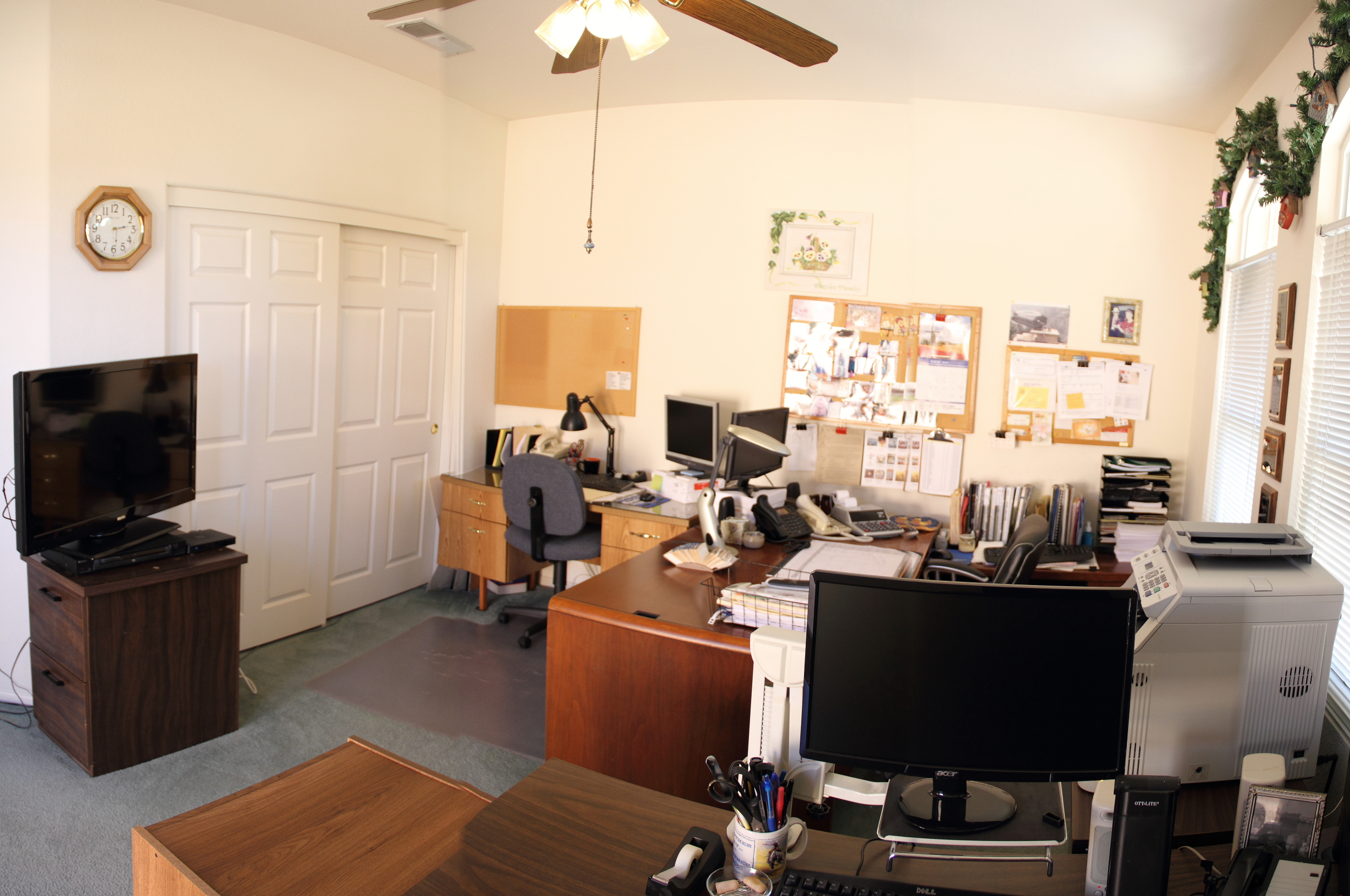 Fourth bedroom is used as an office.