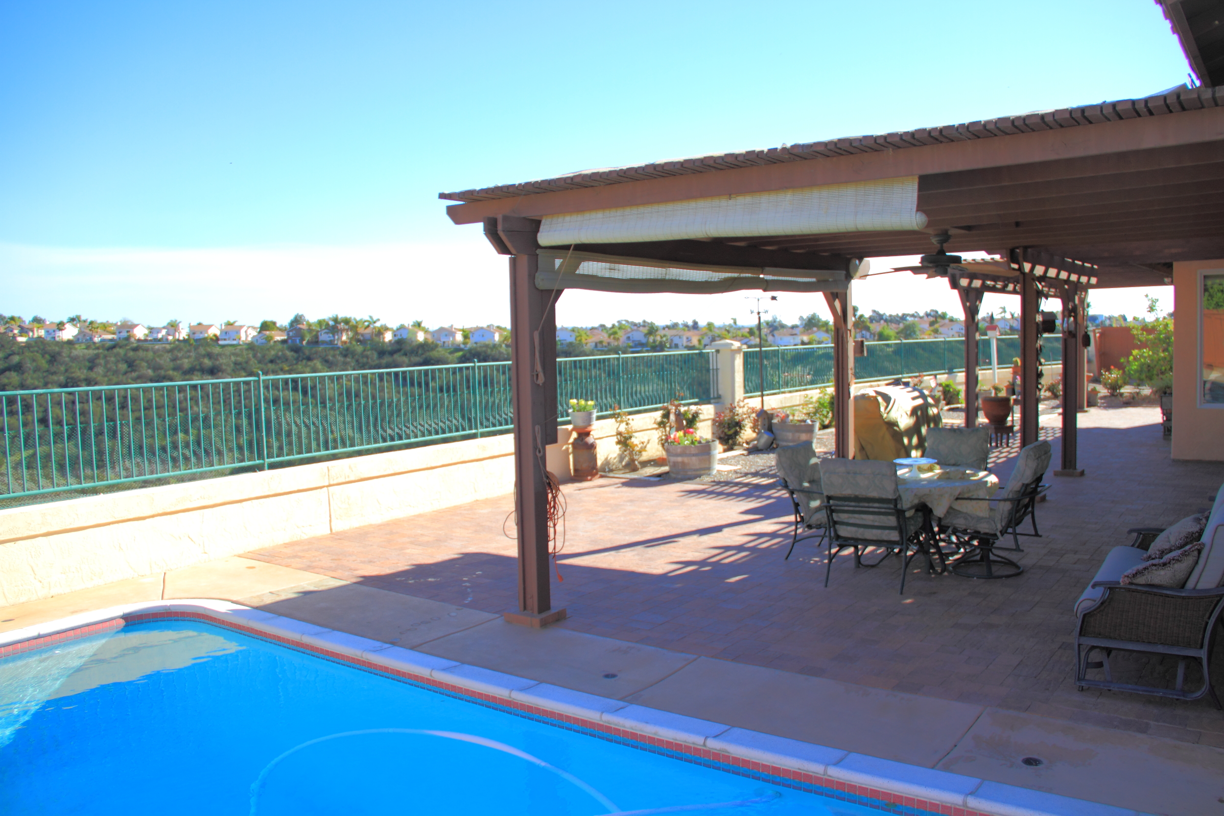 Panoramic view from the patio.