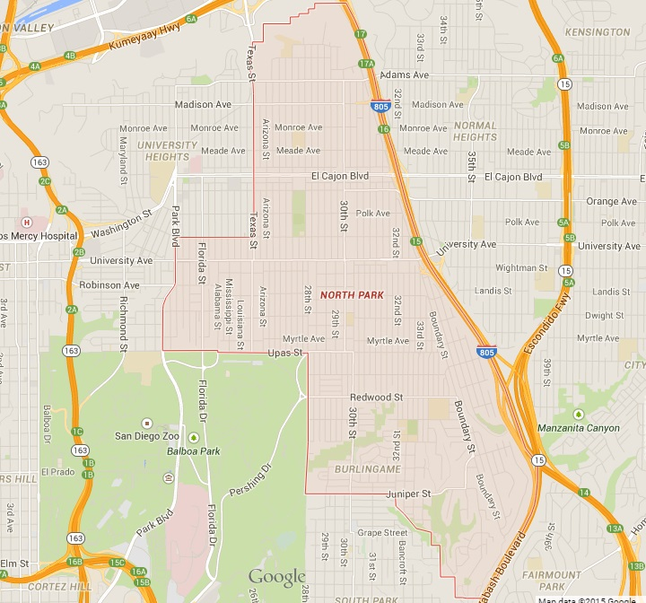 Lemon Grove Zip Code Map.North Park San Diego Neighborhood Guide Bcs Real Estate Services